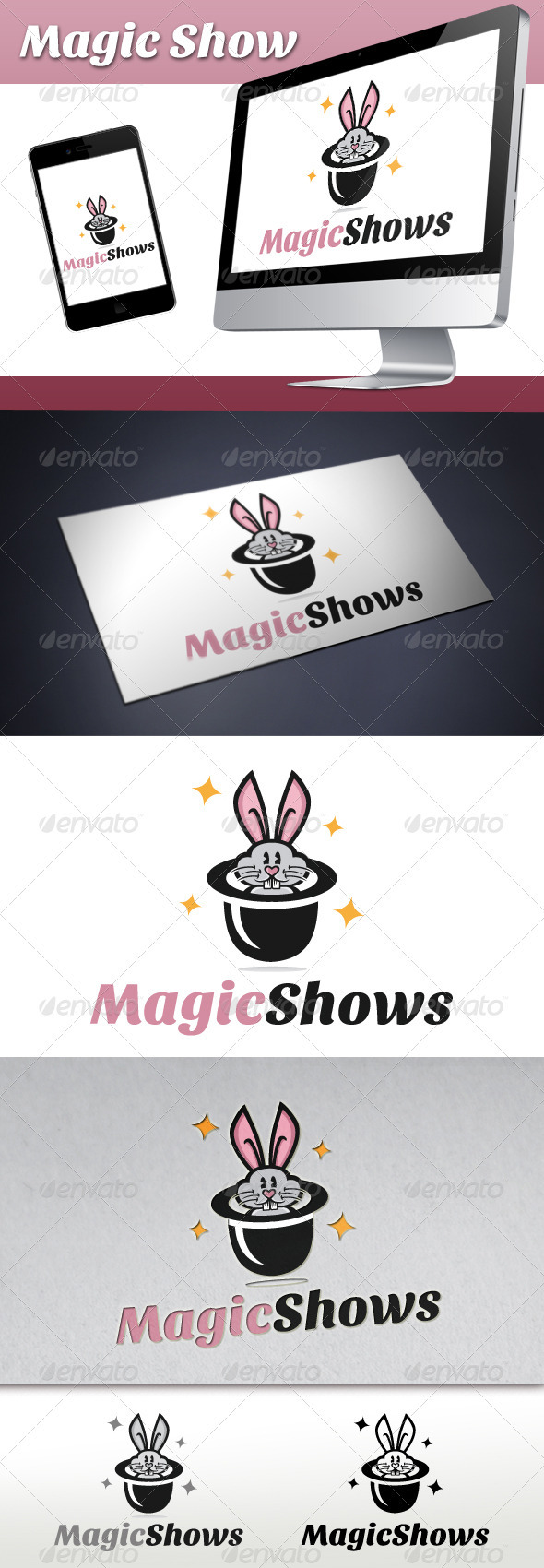 Magic Show Logo  - Animals Logo Templates