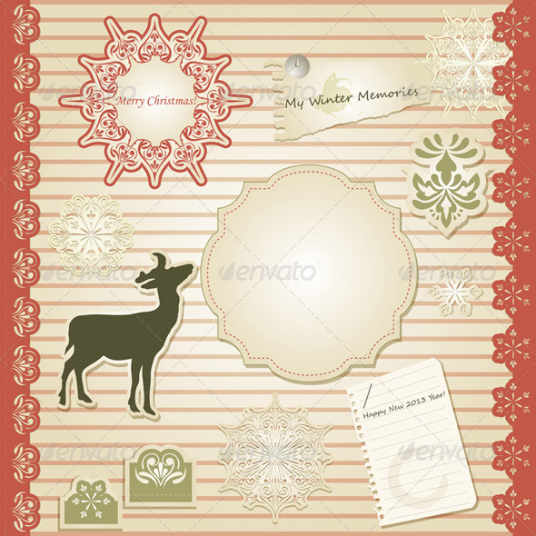Vector Christmas Scrapbook - Christmas Seasons/Holidays