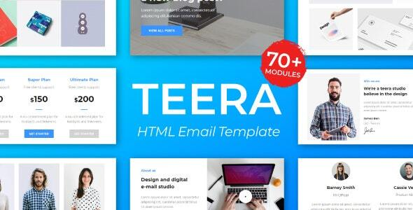 Teera Responsive Email Template – for Agency 50+ Modules – StampReady Builder + Mailster & Mailchimp