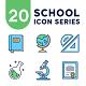 20 School Icon Series
