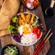 Korean Bibimbap. Bowl with meat, rice and salad - PhotoDune Item for Sale