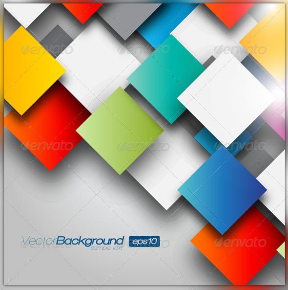 Colorful Squares - Backgrounds Decorative
