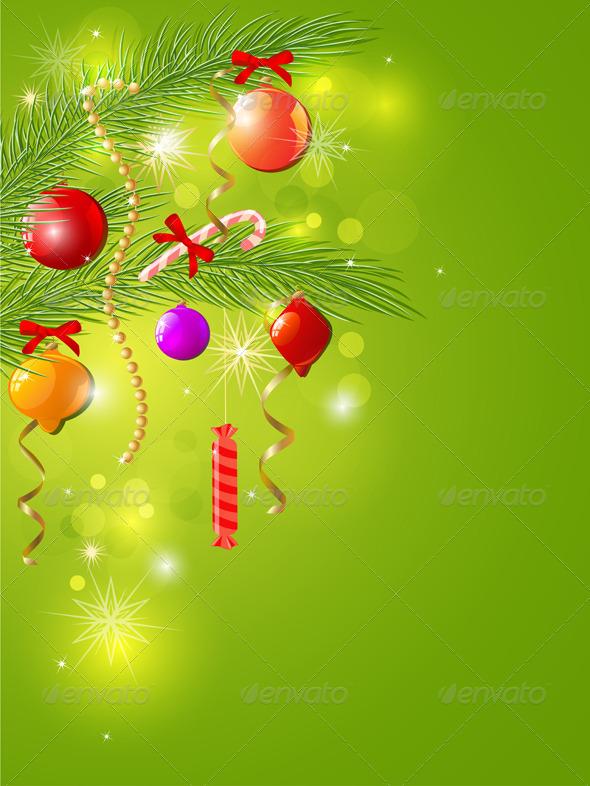 Green Christmas Background - Christmas Seasons/Holidays