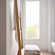 Wooden towel rack in a bright modern bathroom - PhotoDune Item for Sale