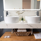 Interior of light modern bathroom with a mirror with light - PhotoDune Item for Sale