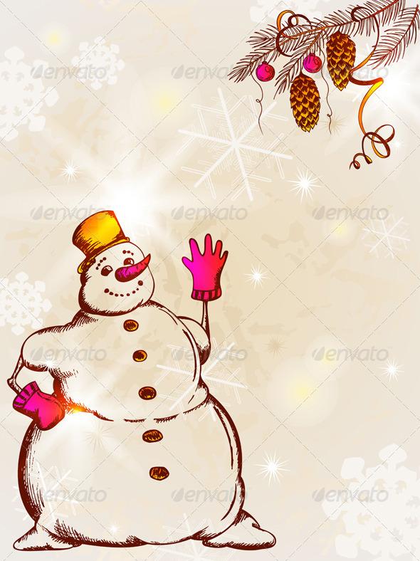 Retro Christmas  Card  - Christmas Seasons/Holidays