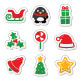 Christmas icons as colourful labels set - GraphicRiver Item for Sale