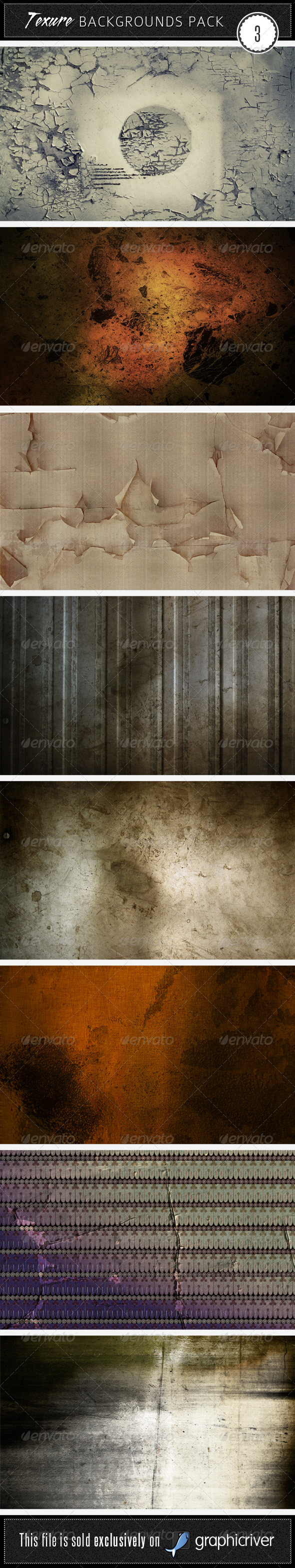 Texture Backgrounds Pack 3 - Miscellaneous Textures