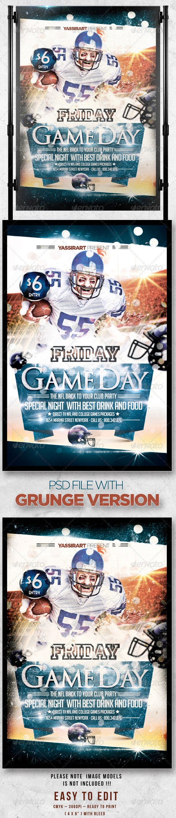Friday Game Day Flyer Template - Sports Events