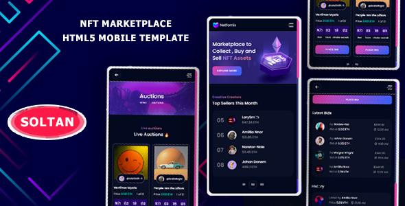Soltan - NFT Marketplace Mobile Template