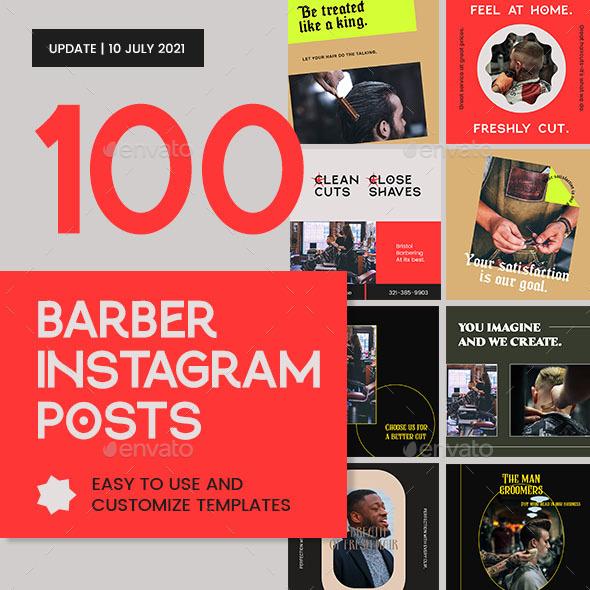 Barber Shop Instagram Posts Templates