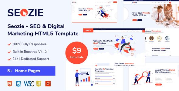 Seozie - SEO & Digital Marketing HTML5 Template