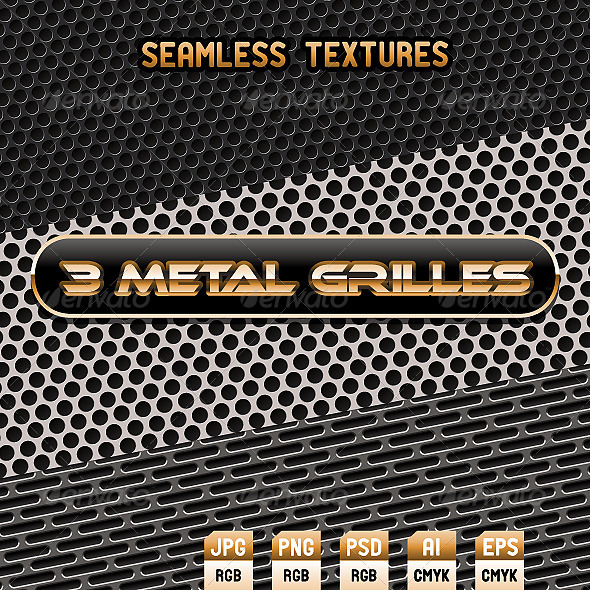 Seamless Metal Textures - Patterns Decorative