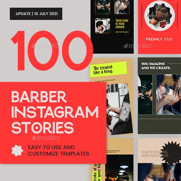 Barber Shop Instagram Stories Templates