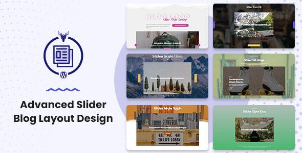 Advanced Slider Blog Layout Design