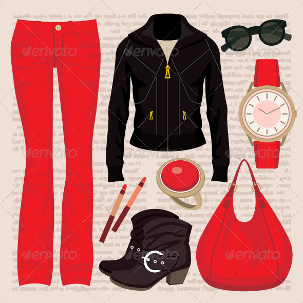 Fashion set with jeans and a jacket - Commercial / Shopping Conceptual