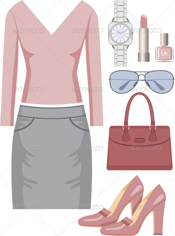 Fashion set with a skirt and a sweater - Commercial / Shopping Conceptual