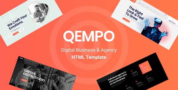 Qempo - Digital Agency Services HTML5 Template