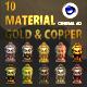 C4D-10 Material Gold & Copper
