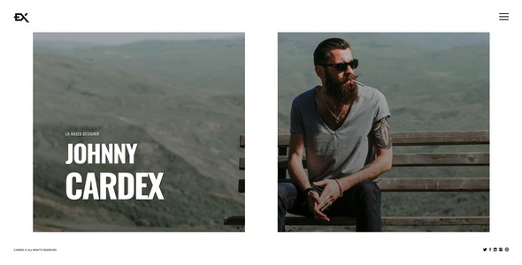 Incredible Cardex - One Page Portfolio Template