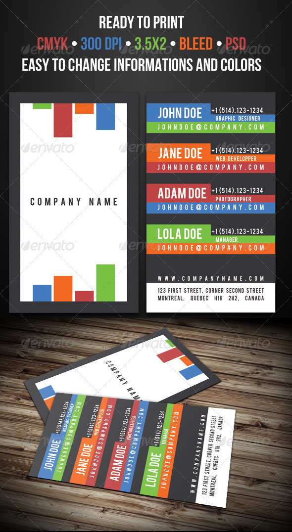 Multi-Contact Business Card - Creative Business Cards