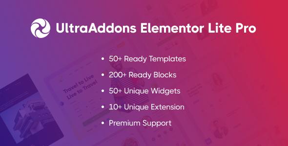 UltraAddons Elementor Lite Pro - Elementor Addons Plugin for WordPress