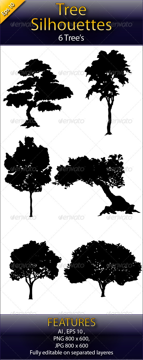 Tree_Silhouettes - Flowers & Plants Nature