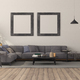 Minimalist living room with large sofa - PhotoDune Item for Sale