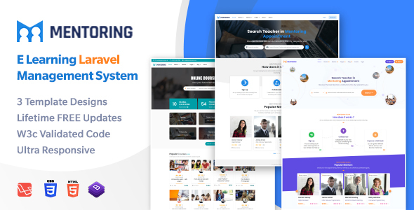 Excellent Mentoring - eLearning, Learning Management System Mentor Booking LMS Template with RTL (Laravel)