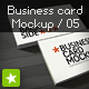 Business card mockup display - Smart template 05 - GraphicRiver Item for Sale