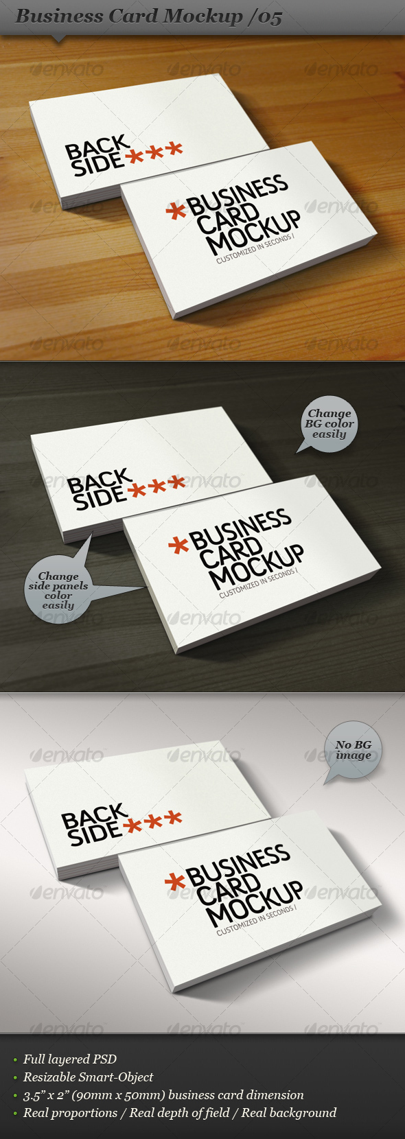 Business card mockup display - Smart template 05 - Business Cards Print
