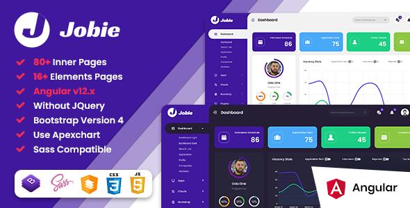 Great Jobie - Job Portal Angular 12 Admin Dashboard Template
