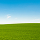 Green meadows with blue sky and clouds background - PhotoDune Item for Sale