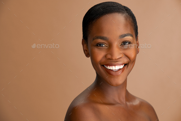 Portrait of mature beauty african woman - Stock Photo - Images