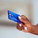 Black woman hand holding credit card - PhotoDune Item for Sale