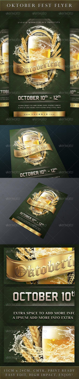 Oktoberfest Event Flyer - Holidays Events