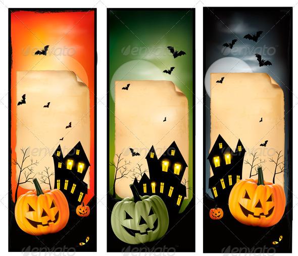 Three Halloween banners - Halloween Seasons/Holidays