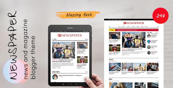 Newspaper - Classic News Blogger Theme