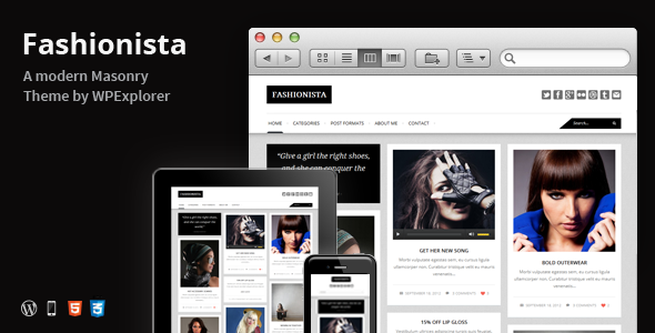 Fashionista – Responsive WordPress Blog Theme