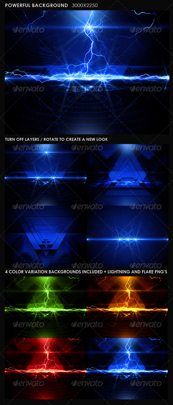 Powerful Background - Backgrounds Graphics