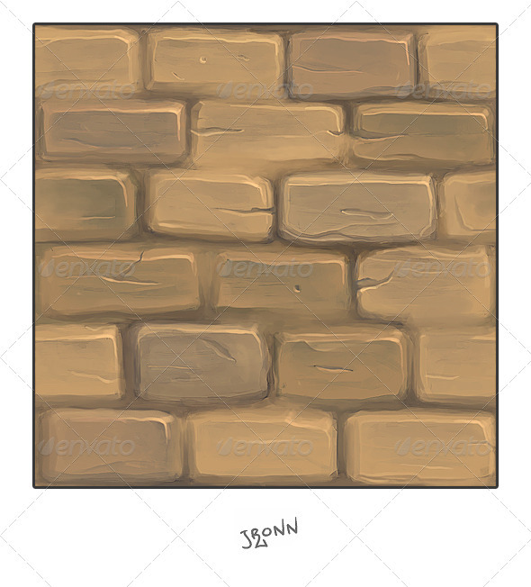 Mud Stone Wall - 3DOcean Item for Sale