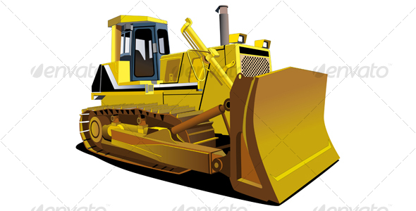 Yellow Dozer - Industries Business