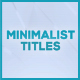 Minimalist Titles for FCPX - VideoHive Item for Sale