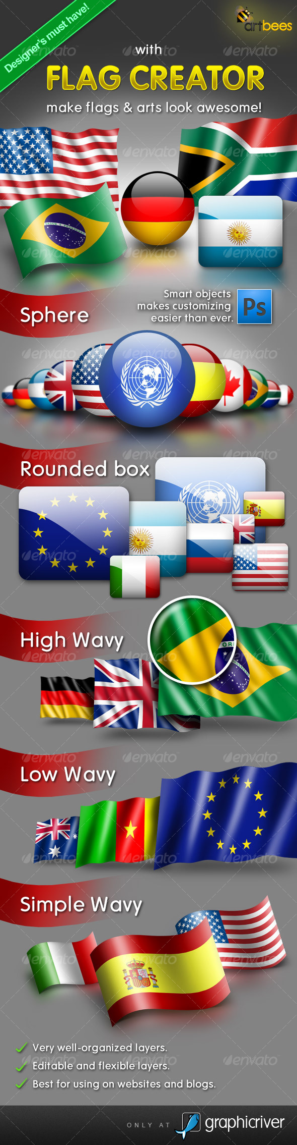 Flag Creator - Miscellaneous Product Mock-Ups