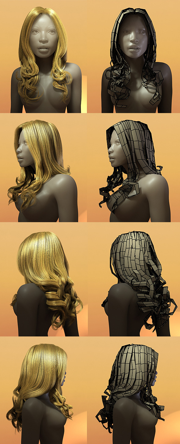Female Hair Style 003 By Bitgem 3docean