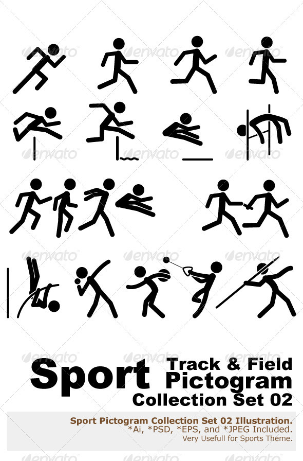 Sport Pictogram Icon Set 02 Track & Field - Sports/Activity Conceptual