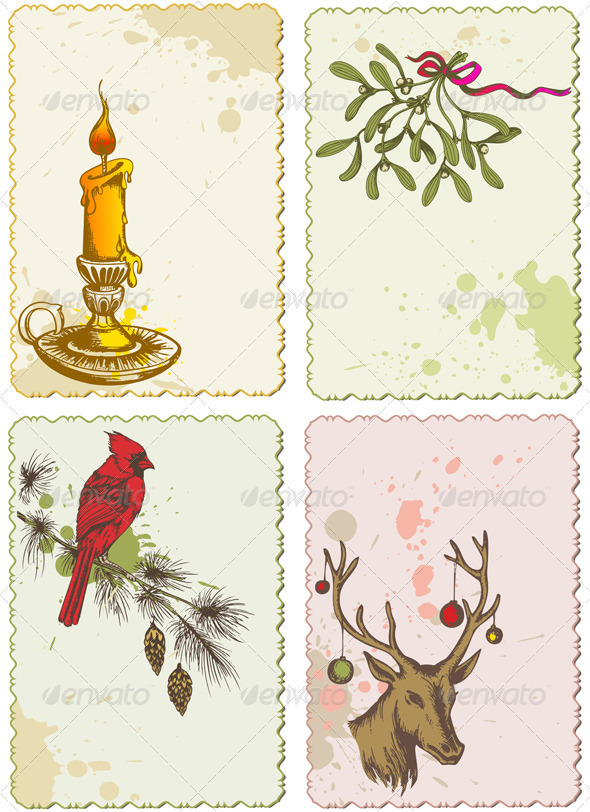 Retro Christmas Cards - Christmas Seasons/Holidays