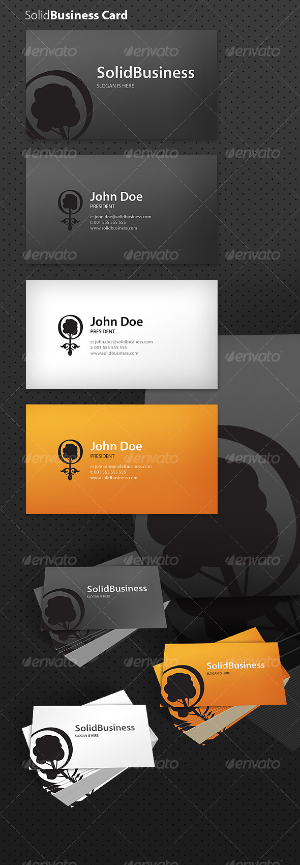 Solid Business Card - Creative Business Cards