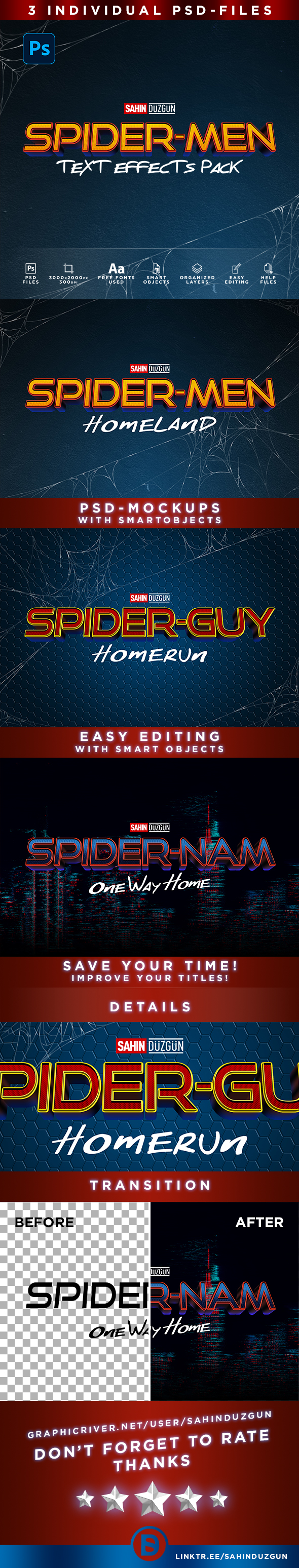 SPIDER-MEN   Text-Effects/Mockups   Template-Package