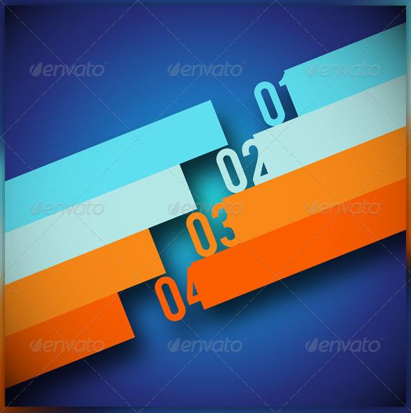 Number lines - Backgrounds Decorative